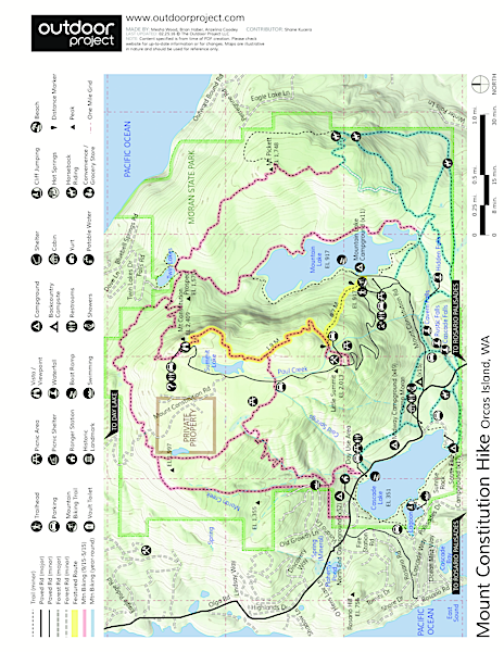 Orcas Island, Mount Constitution Hike Field Guide