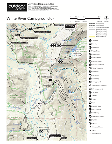 White River Station Campground Map