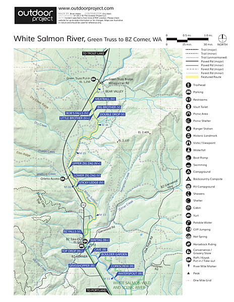 White Salmon River River Map