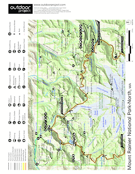 Tolmie Peak Hike Trail Map