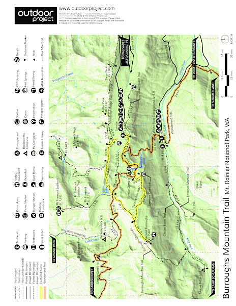 Burroughs Mountain Hike Trail Map