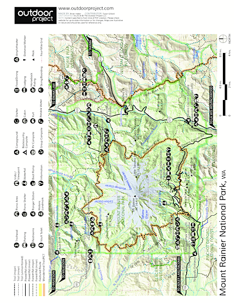 Sunrise Rim Trail Hike Trail Map