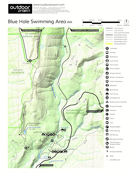 Blue Hole Swimming Area Map