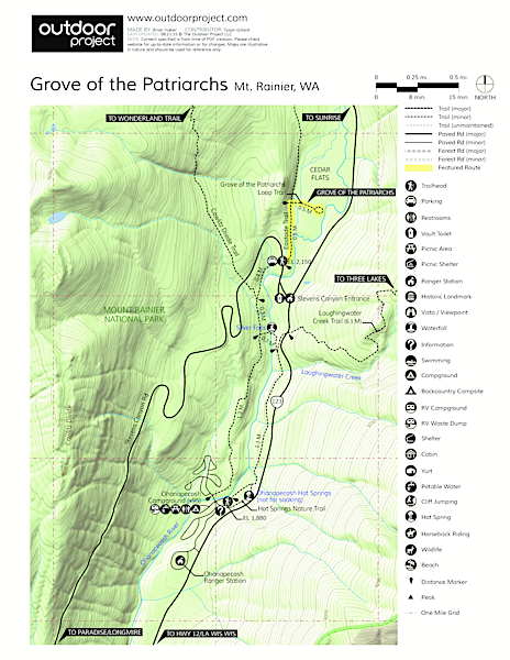 Grove of the Patriarchs Trail Map