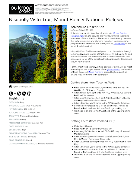 Nisqually Vista Trail Field Guide