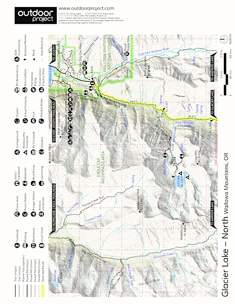 Glacier Lake Trail Map