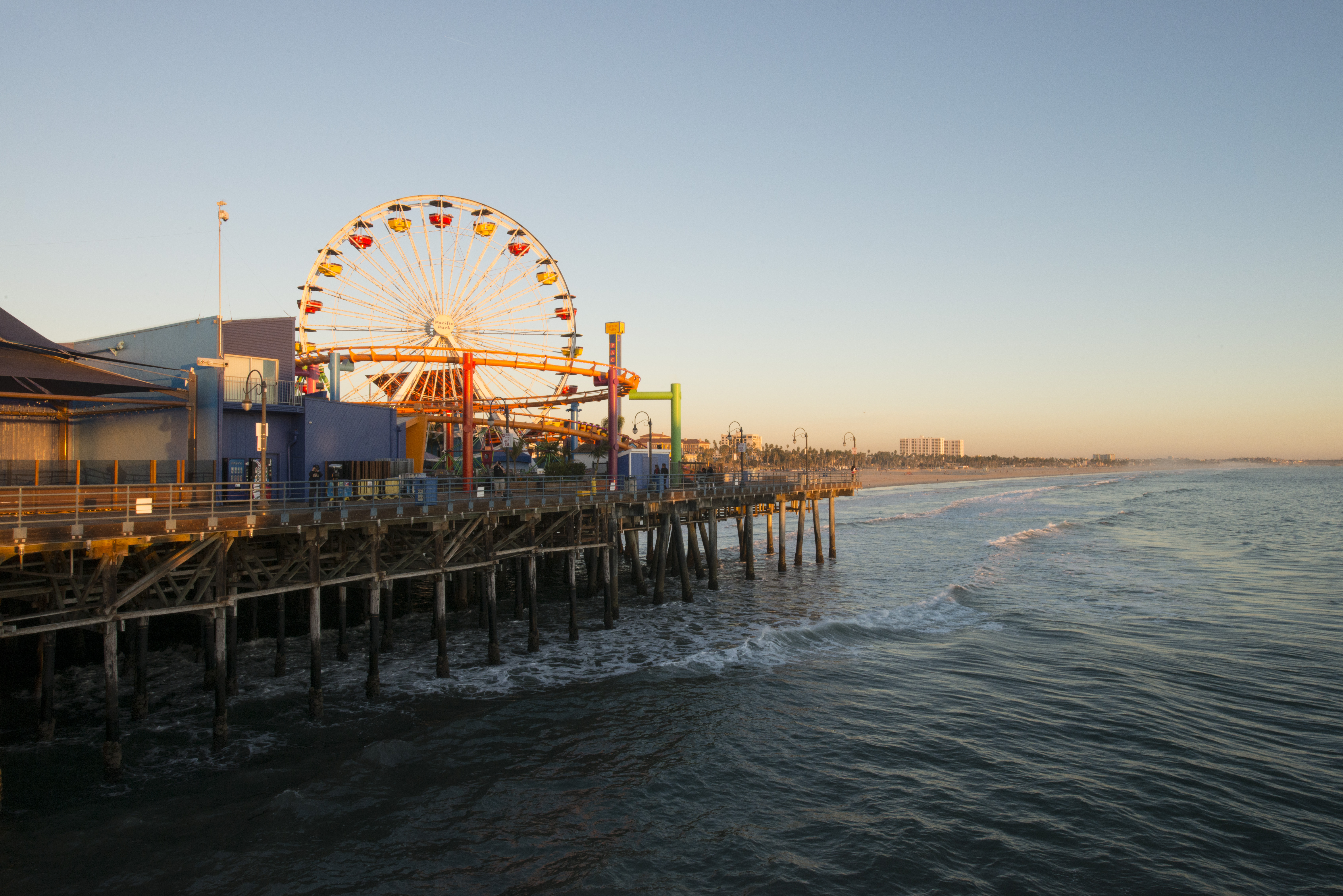 Santa Monica Pier Santa Monica State Beach Los Angeles