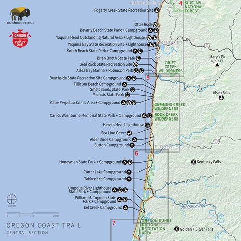 maps of oregon coast Navigating The Oregon Coast Trail Outdoor Project maps of oregon coast
