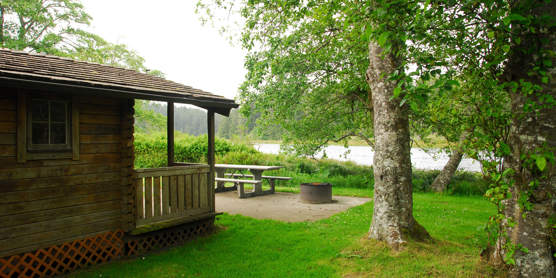 Great Cape; One Of The Three Small Cabins For Rent.  Cape Disappointment  Campground D ...