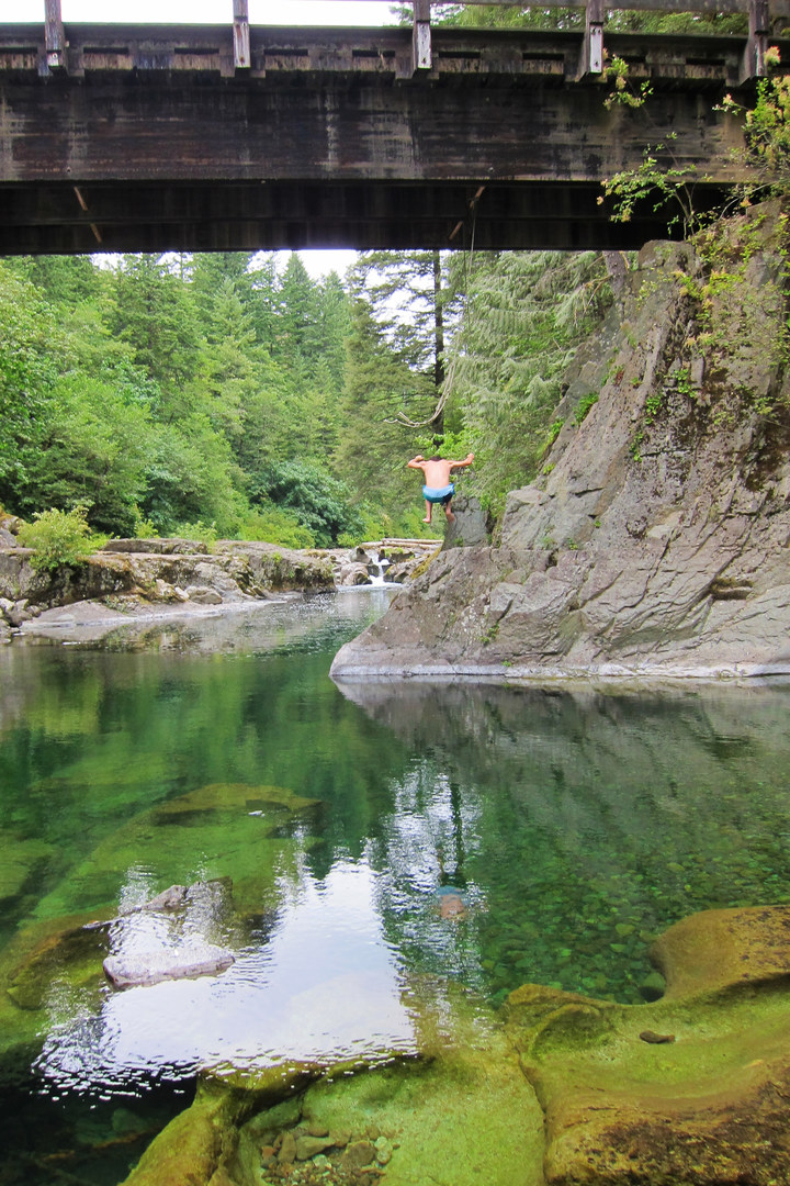 Naked Falls on the Washougal River - 223.9KB