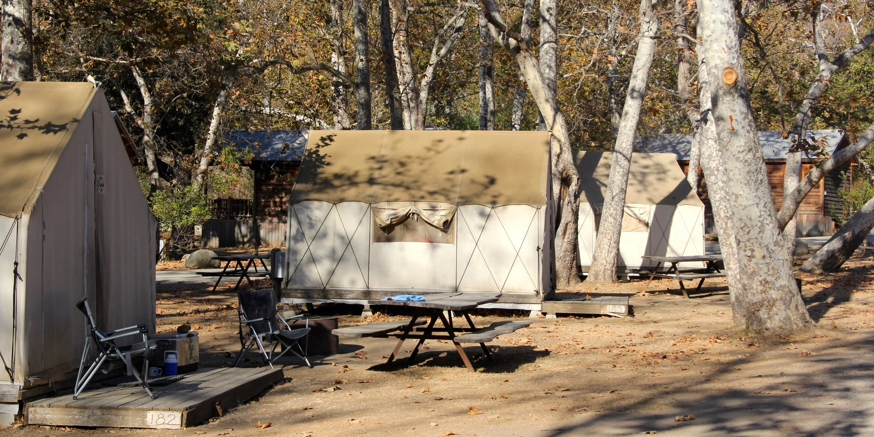 ... Safari tents underneath a grove of canyon sycamores.- El Capitan Canyon Nature Resort ... & El Capitan Canyon Nature Resort | Outdoor Project