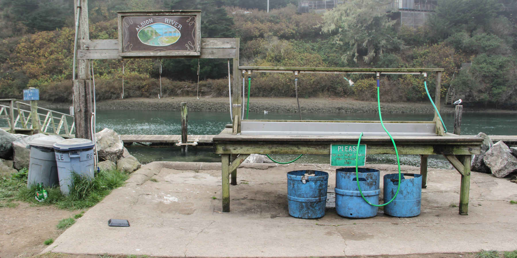 Albion river campground outdoor project for Fish cleaning station near me