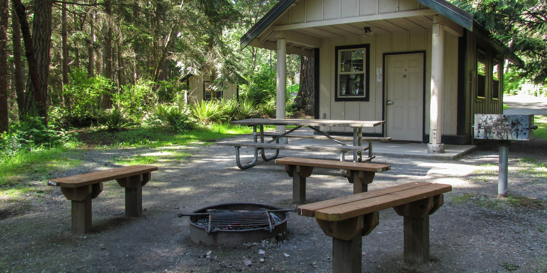 Merveilleux ... One Of The Five Reservable Cabins.  Camano Island State Park Campground  ...