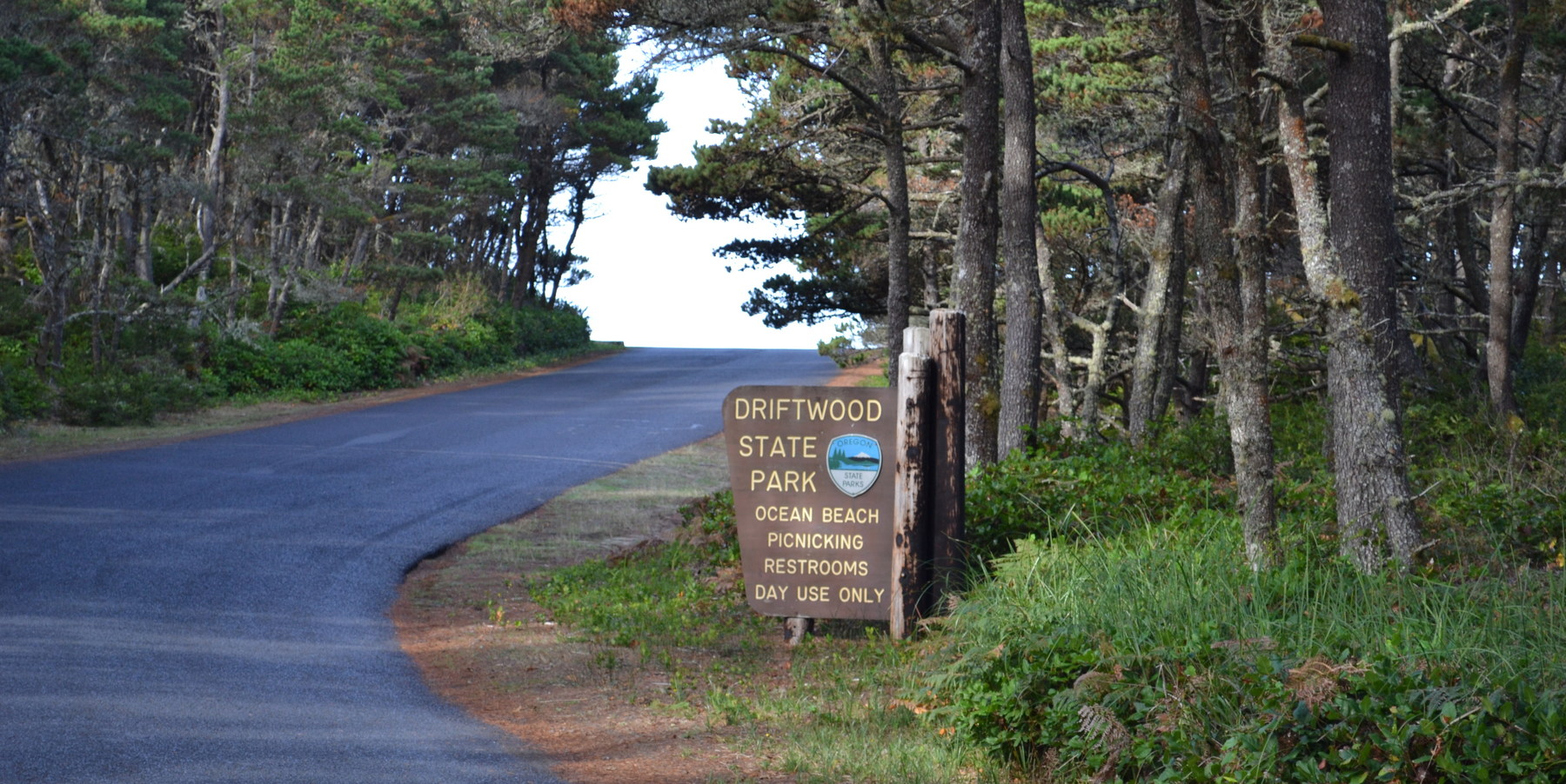 Entrance To Driftwood Beach State Recreation Site