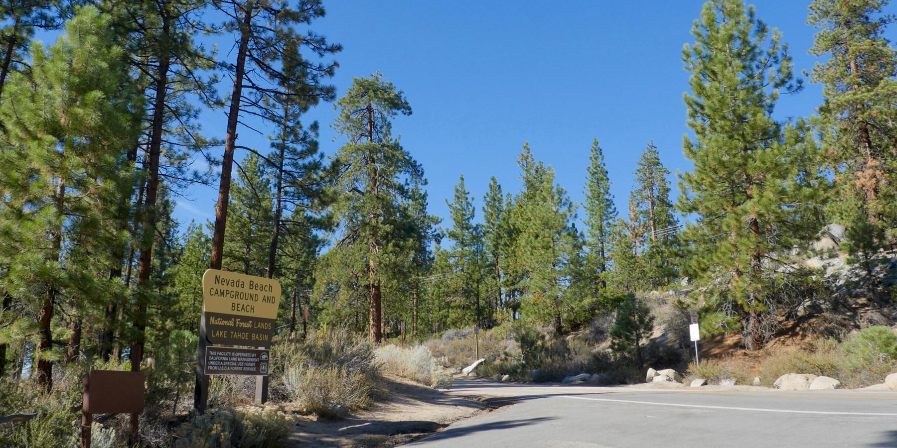 Entrance Sign At Nevada Beach Campground