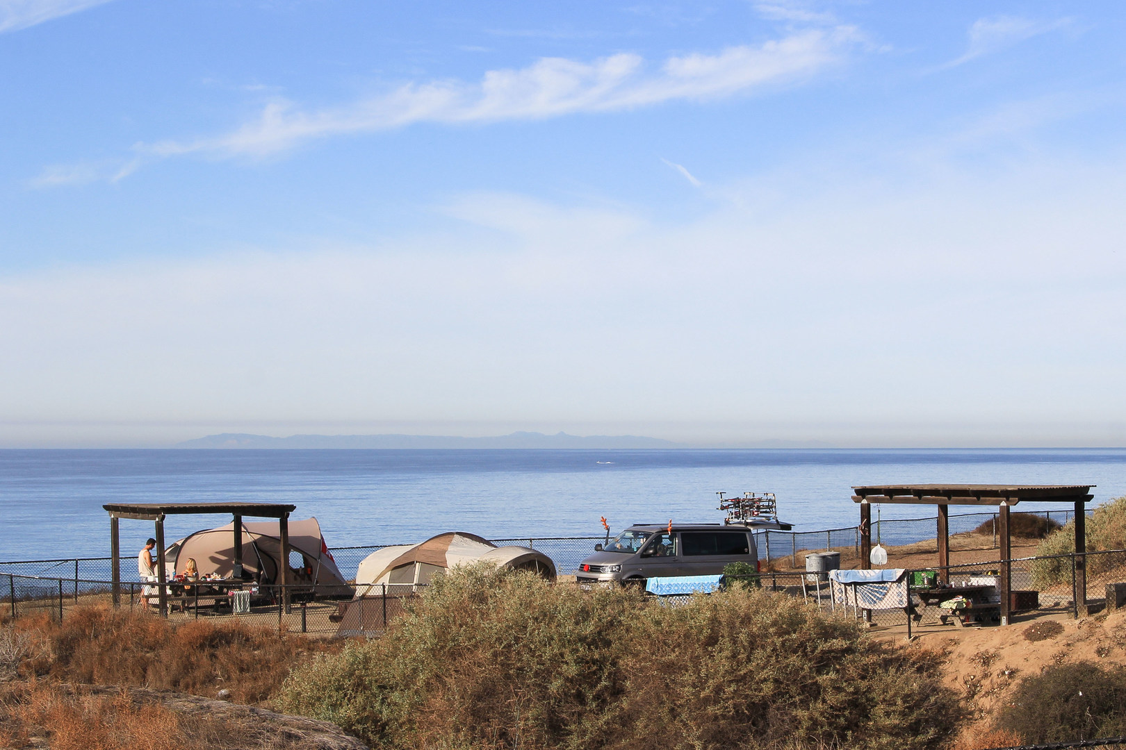 Ocean Bluff Camping At San Clemente State Beach Campground