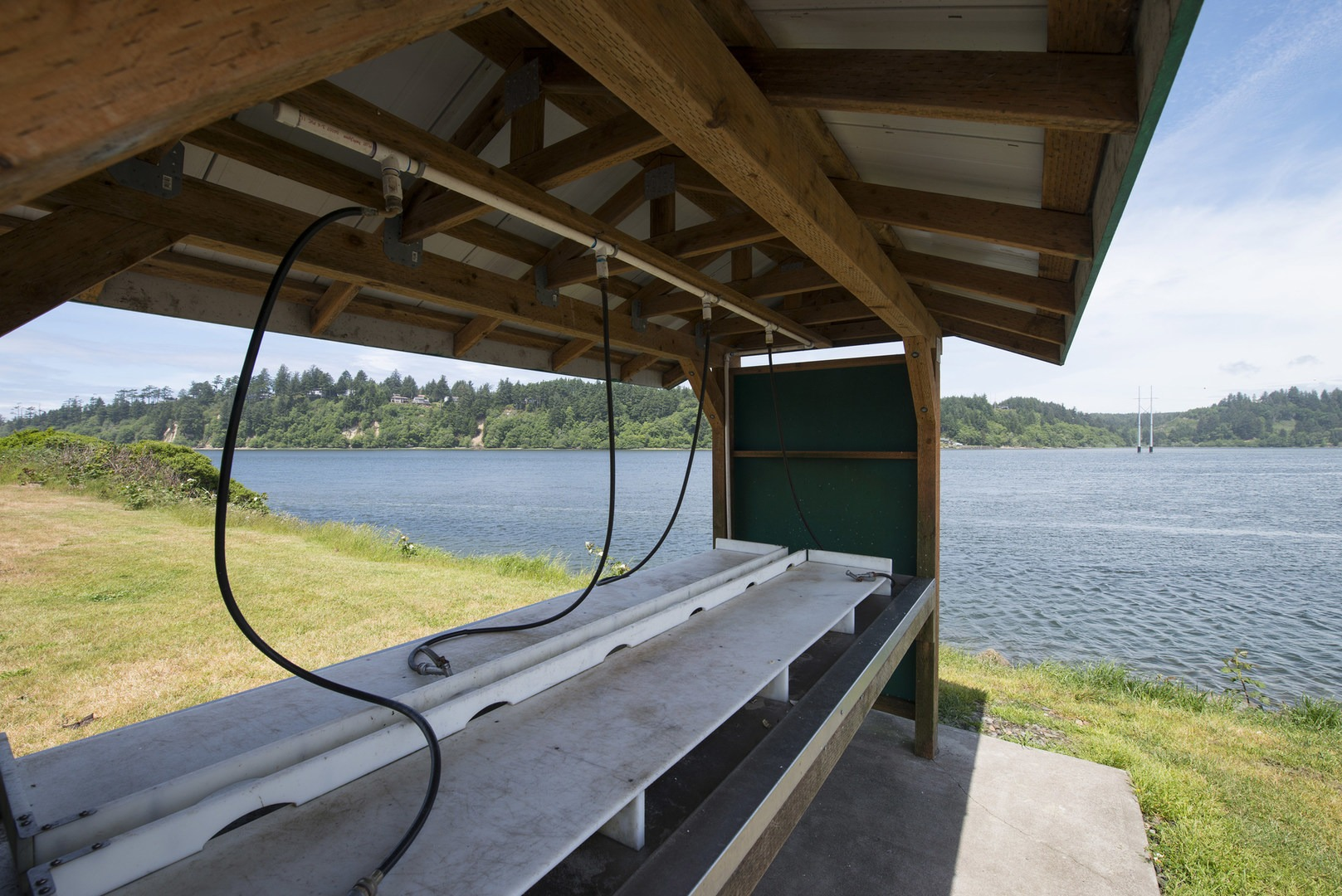 Alsea bay marina robinson park outdoor project for Fish cleaning station near me