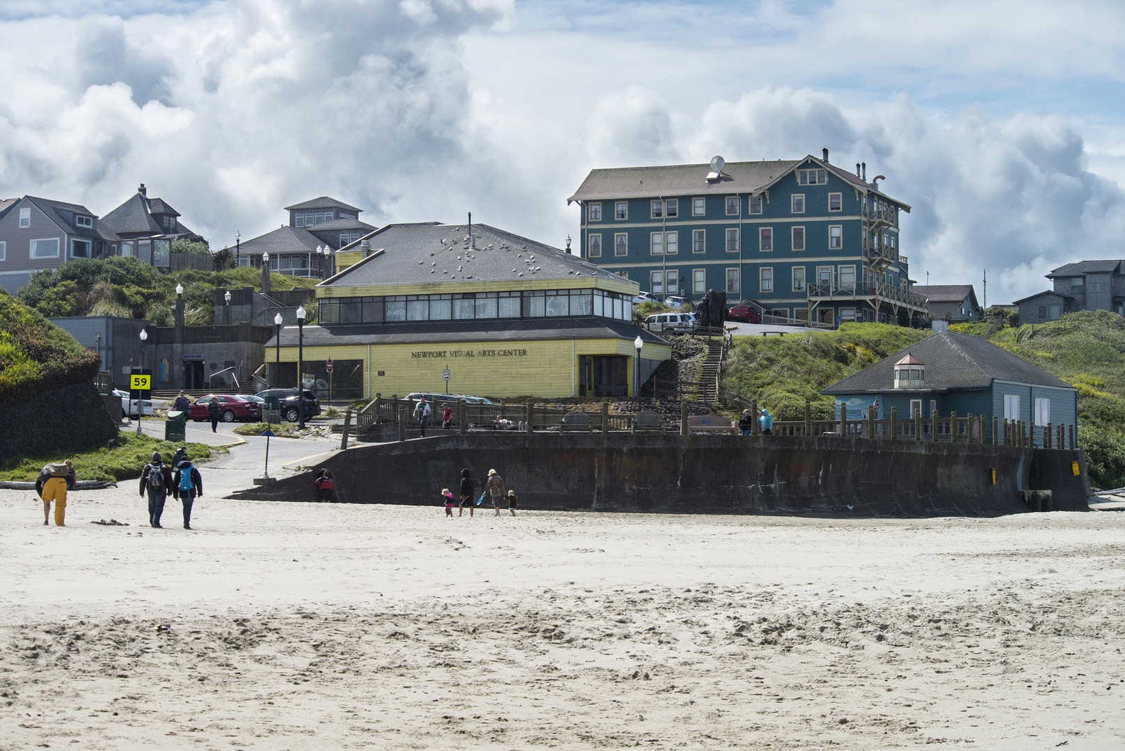 Nye Beach View Of With Sylvia Hotel New Cliff House