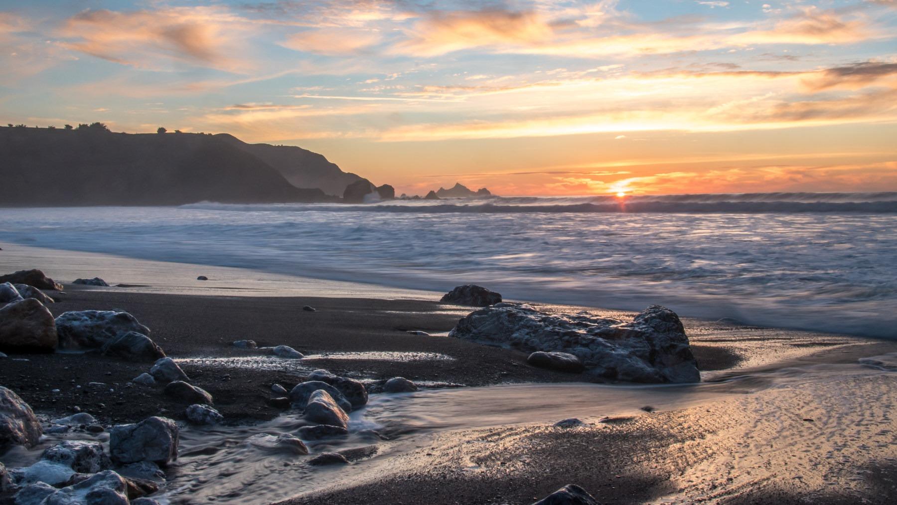 Sunset From Rockaway Beach