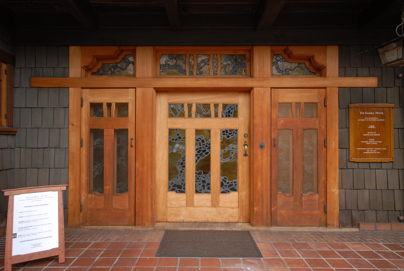 Gamble House National Historic Landmark | Outdoor Project
