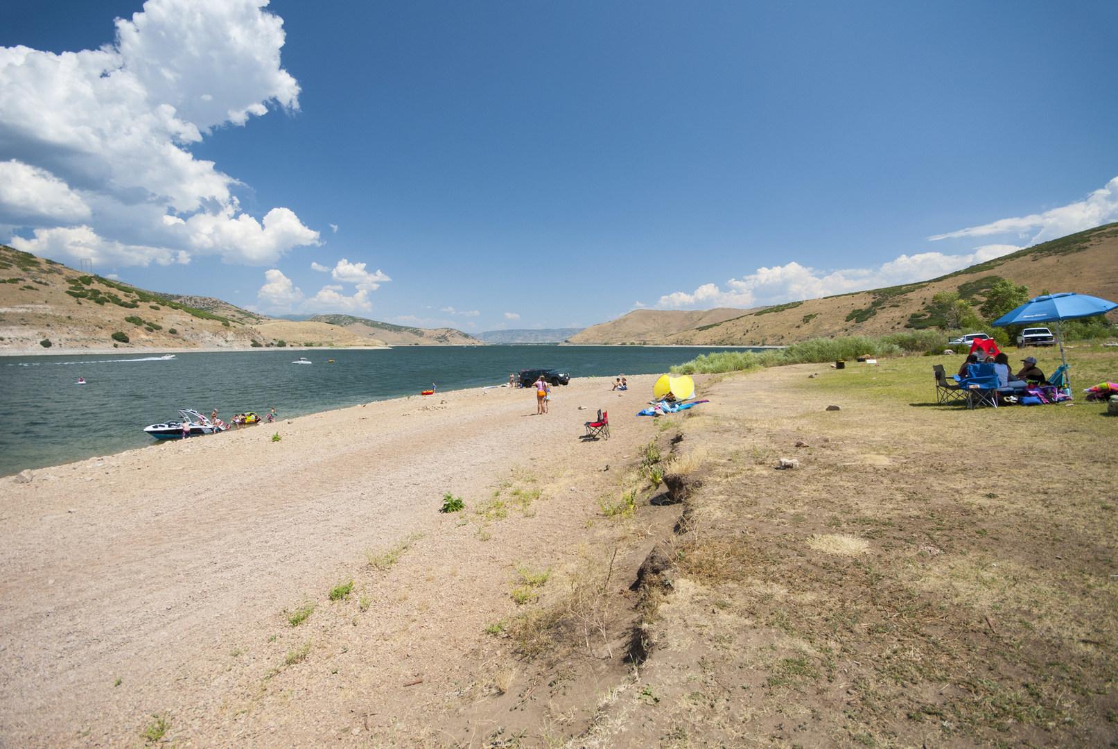 Deer Creek State Park Utah Swimming Beach
