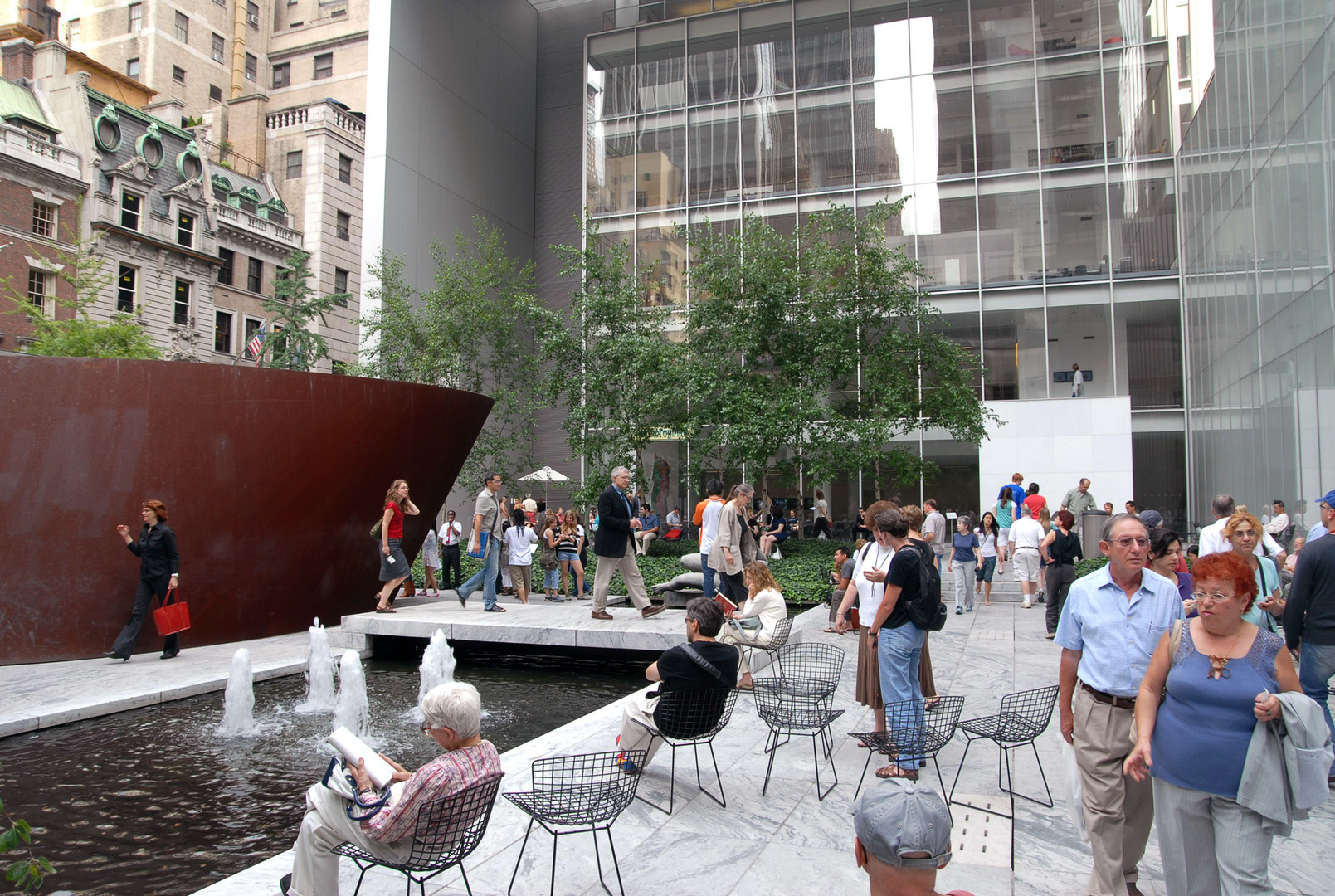 museum of modern art moma courtyard outdoor project. Black Bedroom Furniture Sets. Home Design Ideas