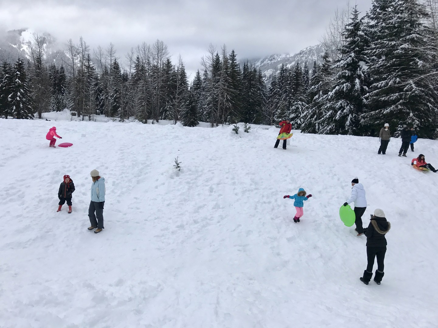Gold Creek Sno Park Sledding Outdoor Project