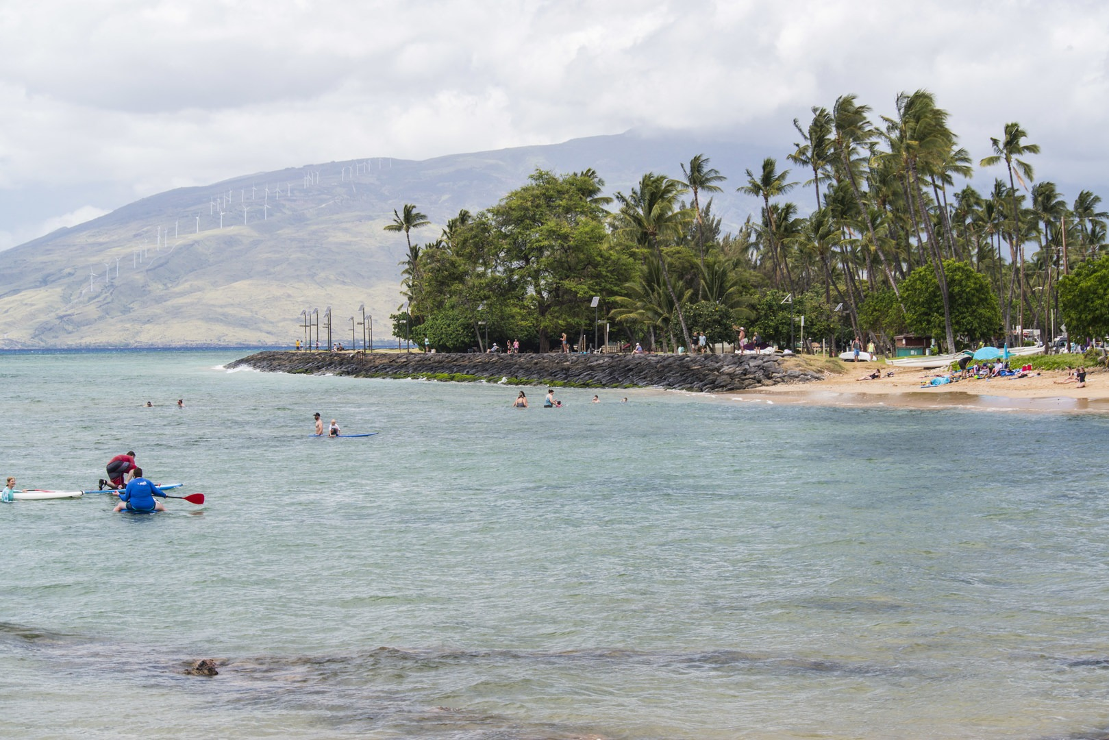View North Of Kalama Park And The West Maui Mountains From Cove Beach