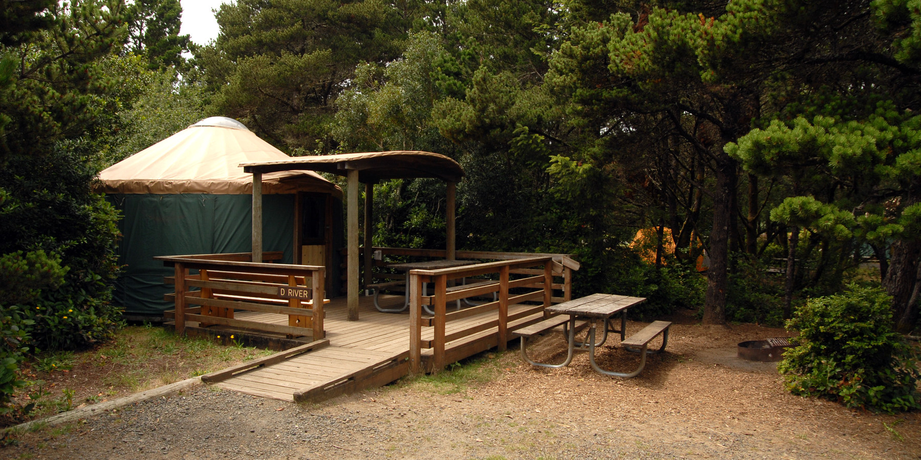 A Guide To Typical Yurt In The South Beach State Park Campground S Cooper Ridge Village