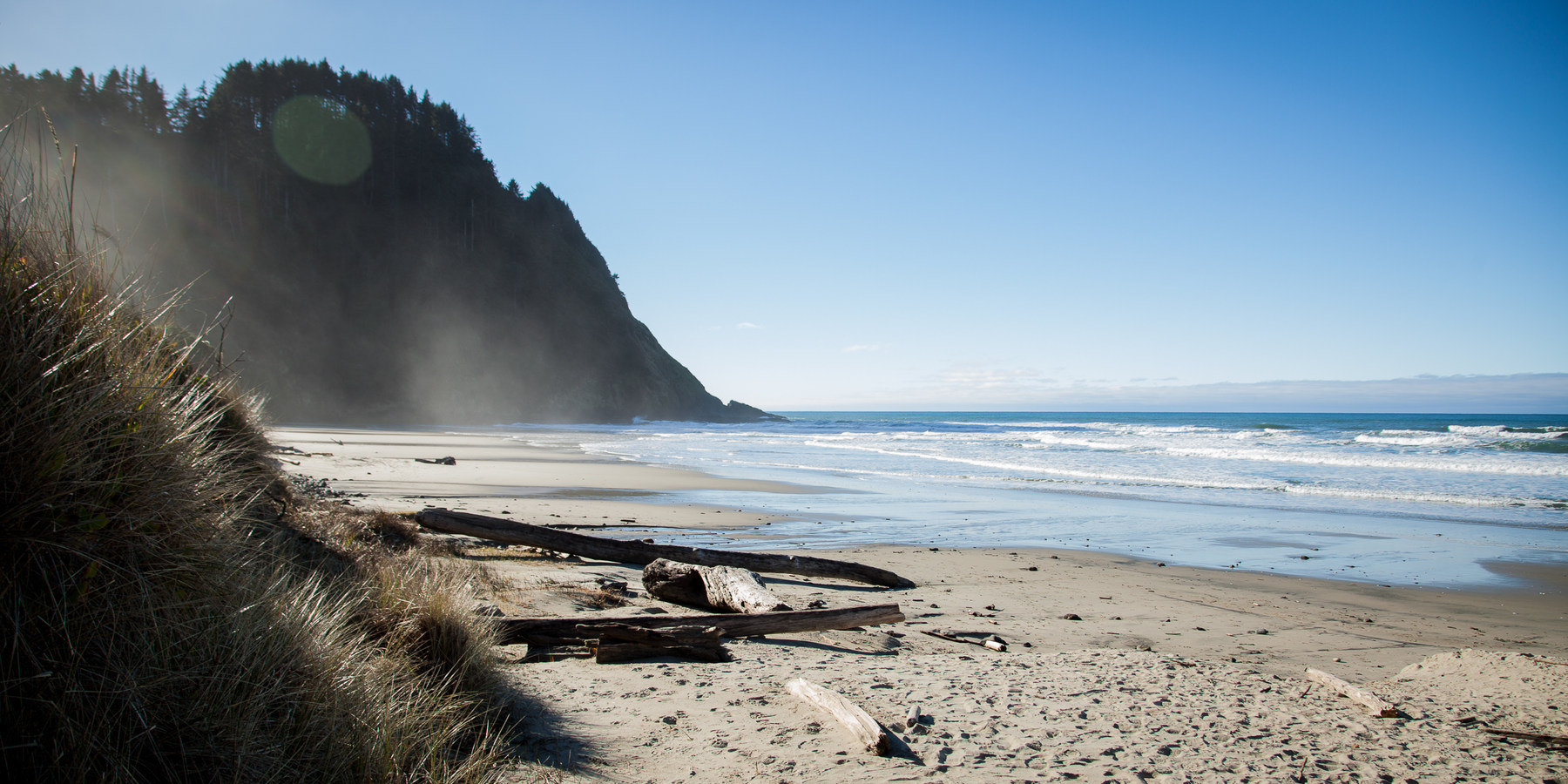 Best Hikes On The Oregon Trail Emerges Onto Beach With Southern Views Of Heceta Head