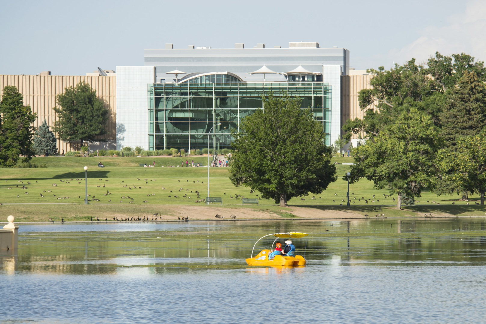 The Best Of Backyard Urban Adventures · View Of The Denver Museum Of Nature  And Science From Across Ferril Lake At City Park ...