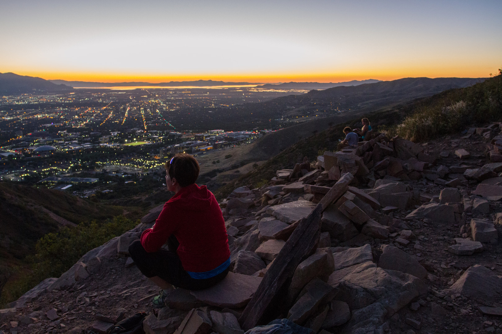 Awesome ... Enjoying The Sunset From The Living Room.   Best Hikes Near Salt Lake  City