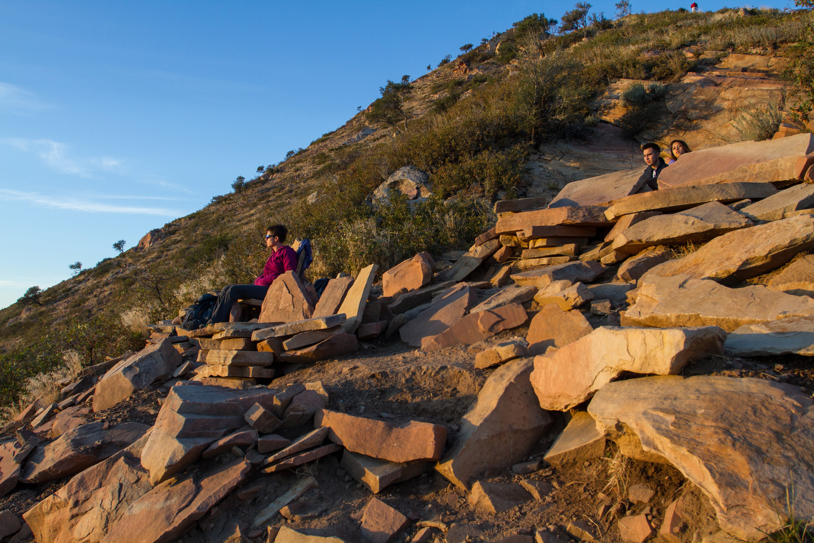 Hikers Relax On Stone Furniture At The Living Room.   Best Vistas For  Fireworks: ... Part 35