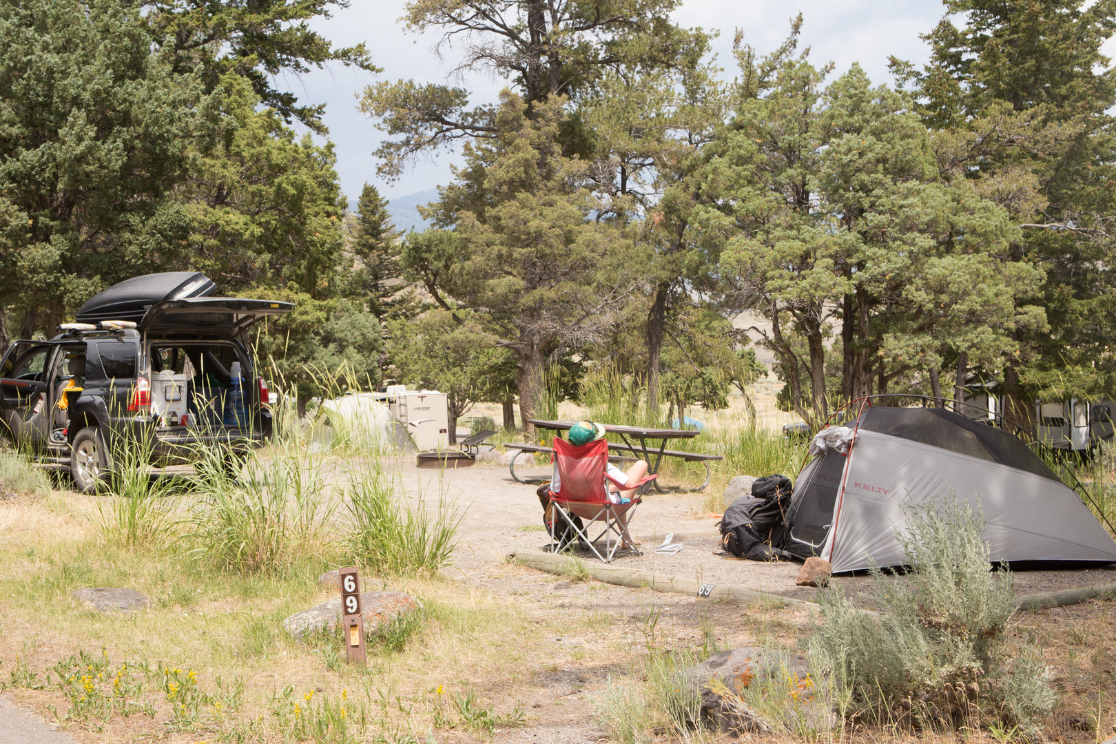 a guide to campgrounds in yellowstone national park - outdoor project