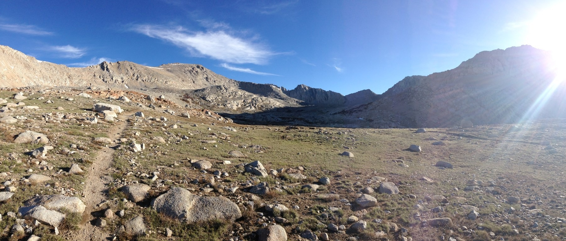 ... The trail approaches Forester Pass in Sequoia National Park.- Solo Hiking the Pacific Crest ...