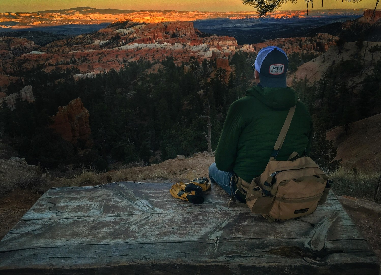 Sunset at Bryce Canyon.