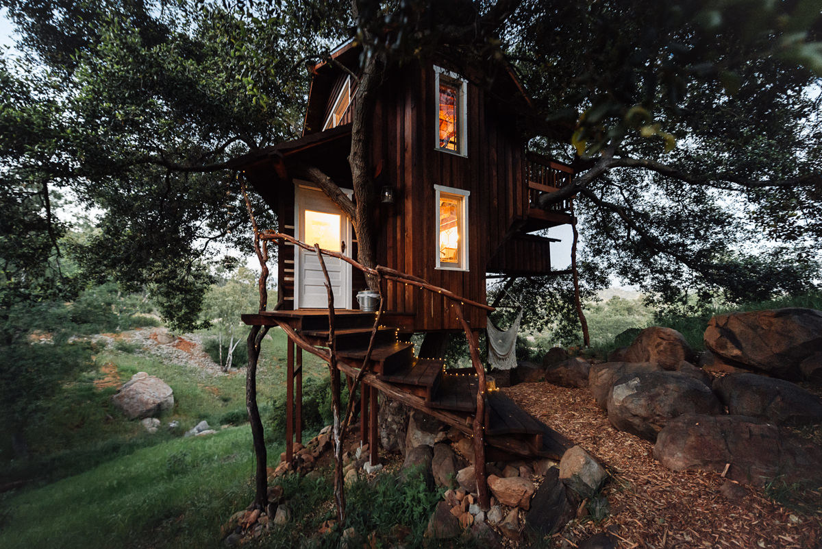 Romantic Rustic Treehouse. Photo by Natasha Sadikin.- 8 Romantic Treehouses  to Stay in ...