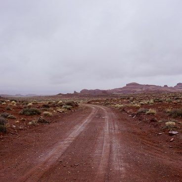 Muddy roads can easily cause you to become stuck.- Horseshoe Canyon Hike