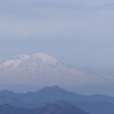 Mount Ranier from the summit- Silver Star Mountain via Ed's Trail + Silver Star Trail