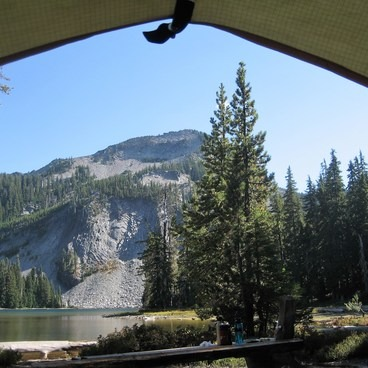 A bedroom view to die for!- Indigo Lake Campground