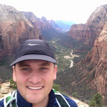 On top of where the Angels Land- Angels Landing Hike