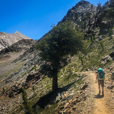 Epic views of Sawtooth Peak abound as you near the lake.- Monarch Lakes Hike