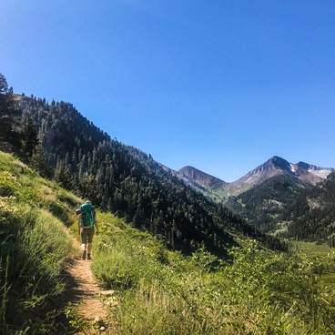 The trail starts off dusty and dry, rising out of Mineral King.- Glacier Pass, Sawtooth Pass + Big Five Lakes Hiking Loop
