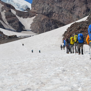 Camp Muir - Disappointment Cleaver Route- Mount Rainier: Disappointment Cleaver Route