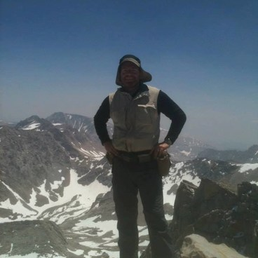 At the Whitney summit in July '11- Mount Whitney Hike via Whitney Portal