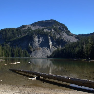 Sawtooth Mountain and Indigo Lake.- Indigo Lake Trail