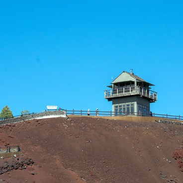 Lava Butte Fire Lookout in Central Oregon.- Lava Butte + Lookout Tower