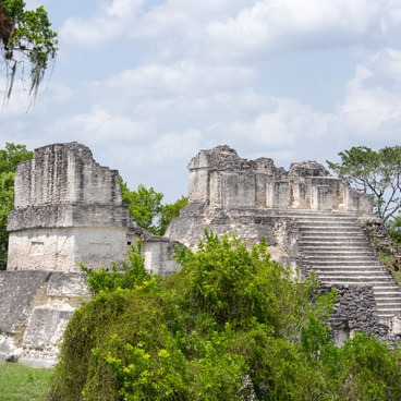 The Grand Plaza in Tikal National Park.- Tikal National Park