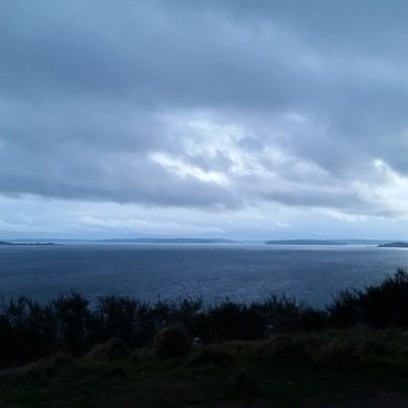 View from Magnolia Bluff off the Loop Trail.- Discovery Park + Fort Lawton Historic Area