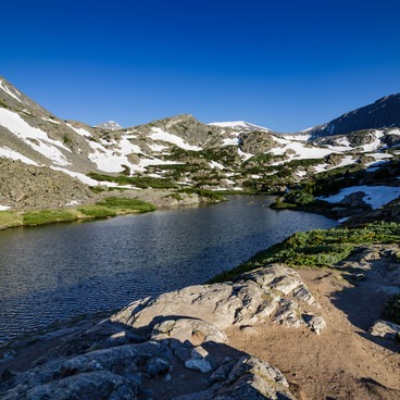 Lake at the Top- McCullough Gulch Trail